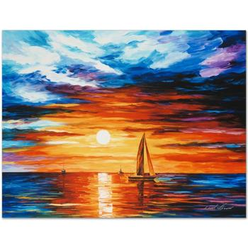 """Leonid Afremov (1955-2019) """"Touch of Horizon"""" Limited Edition Giclee on Gallery Wrapped Canvas, Numbered and Signed."""