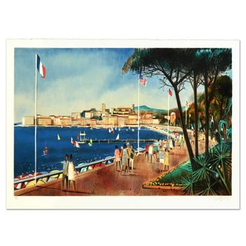 """Robert Vernet Bonfort, """"Antiber"""" Limited Edition Lithograph, Numbered and Hand Signed."""
