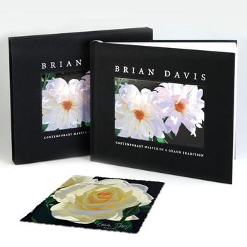 """Brian Davis - Deluxe Ltd Ed Fine Art Book, Hand Signed with Ltd Ed of """"French Lace w/Bud"""", Hand Signed & No. w/Cert! $175"""