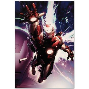 "Marvel Comics ""Invincible Iron Man #25"" Numbered Limited Edition Canvas by Salvador Larroca; Includes COA."