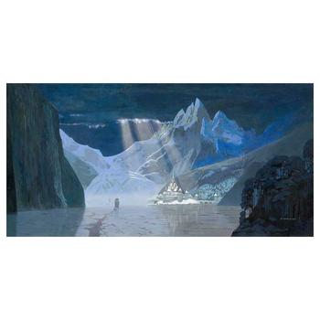 """David Womersley, """"Arendelle in Winter"""" Hand Embellished Limited Edition Canvas from Disney Fine Art. Hand Signed and with COA"""