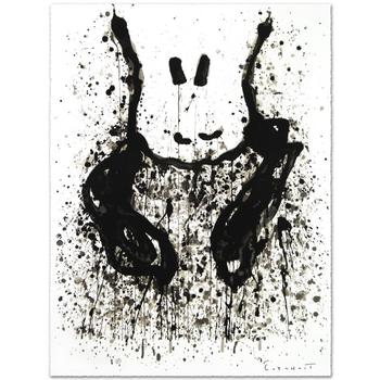 """Tom Everhart, """"Watchdog 6 O'Clock"""" Ltd Ed Hand Pulled Original Lithograph Numbered and Hand Signed, with Cert."""