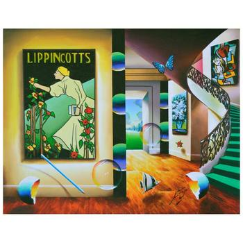 """Ferjo, """"Vintage Lippincotts"""" Original Painting on Canvas, Hand Signed with Letter of Authenticity."""