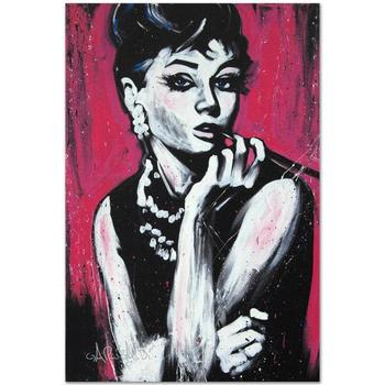 "David Garibaldi, ""Audrey Hepburn (Fabulous)"" LTD ED Giclee on Canvas (30 x 40""), Numbered and Signed."