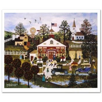 "Jane Wooster Scott, ""Vacation Anticipation"" Hand Signed Limited Edition Lithograph with Letter of Authenticity."