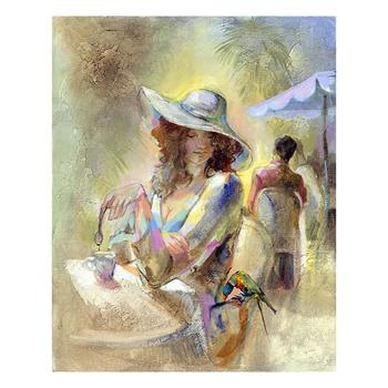 "Lena Sotskova, ""Miss Sunchine"" Artist Embellished Limited Edition Giclee on Canvas with COA."