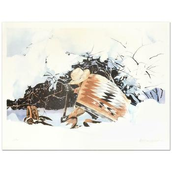 "William Nelson, ""Digging In"" Limited Edition Lithograph, Numbered and Hand Signed by the Artist."