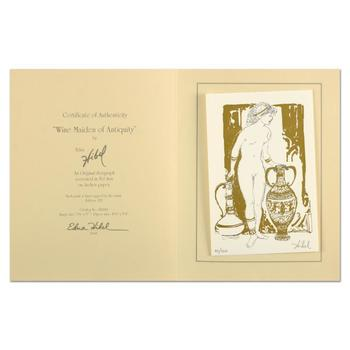 """Edna Hibel (1917-2014), """"Wine Maiden of Antiquity"""" Limited Edition Serigraph, Numbered 52/325 and Hand Signed with Certificate"""