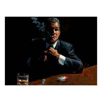 """Fabian Perez """"Proud To Be a Man"""" Hand Embellished Limited Edition Canvas; Hand Signed, with COA."""