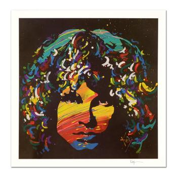 """KAT, """"Jim Morrison"""" Limited Edition Lithograph, Numbered and Hand Signed with Certificate of Authenticity."""