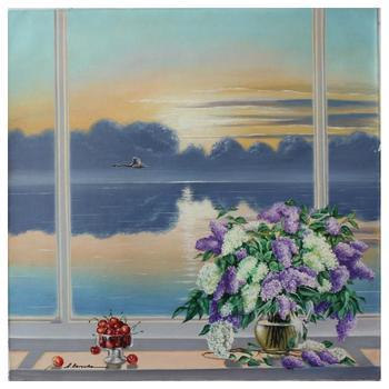 "Alexander Borewko, ""Ocean View"" Hand Signed Original Oil on Canvas; COA"