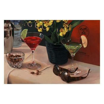 """Nobu Haihara, """"Cocktails On 5Th"""" Limited Edition Canvas, Signed and with COA."""