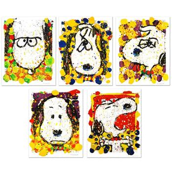 """Everhart """"Squeeze(Days)"""" Suite of 5 LtdEd Hand Pulled Original Lithographs (29""""x38.5"""") Matching #s & Hand Signed w/Cert"""