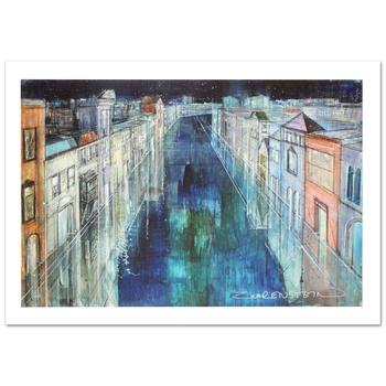 """Zwarenstein, """"Long Canal, Venice"""" Ltd Ed Giclee on Canvas (36"""" x 24""""), Numbered and Hand Signed with Certificate."""