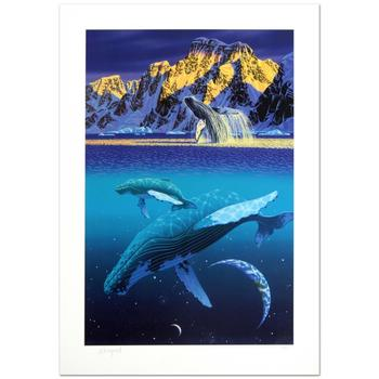 """William Schimmel, """"The Humpback's World"""" Ltd Ed Serigraph, Numbered and Hand Signed with Certificate."""
