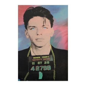 """Steve Kaufman (d.2010), """"Sinatra"""" Hand Embellished Limited Edition Silkscreen on Canvas, AP No. 9/250 and Signed with COA."""