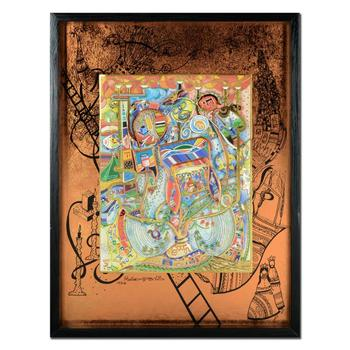 """Raphael Abecassis """"Circle Of Life II"""" Limited Edition 3-Layer Decoupage, Numbered and Hand Signed with Letter of Authenticity."""