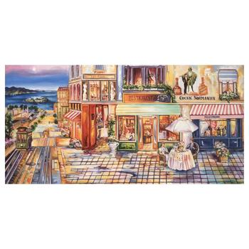 """Alexander Borewko, """"Pedestrian Mall"""" Hand Signed Limited Edition Giclee on Canvas with Letter of Authenticity."""