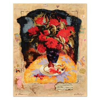 """Alexander & Wissotzky, """"Blossoms and Fruit"""" Limited Edition Serigraph, Numbered and Hand Signed with Certificate."""