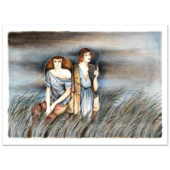 """Haya Ran, """"Expectation"""" Hand Signed Limited Edition Serigraph with Letter of Authenticity."""