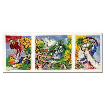 """Ben Avram, """"Peace and Happiness"""" Hand Signed Limited Edition Serigraph with Letter of Authenticity."""
