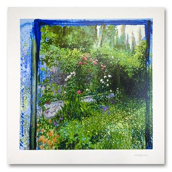 """Pierre Jean Llado, """"Floral"""" Limited Edition Serigraph, Numbered 55/375 and Hand Signed with Letter of Authenticity"""