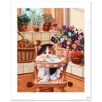 """Barbara Higgins-Bond, """"Sunday Brunch"""" Limited Edition Lithograph. Numbered and Hand Signed by the Artist."""