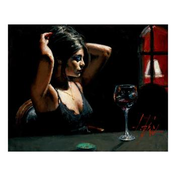 """Fabian Perez """"The Dark Room II"""" Hand Embellished Limited Edition Canvas; Hand Signed, with COA."""