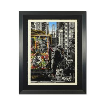 """Mr Brainwash, """"San Francisco"""" Framed Limited Edition Silk Screen Hand Signed and Numbered PP 3/5; Letter of Authenticity."""