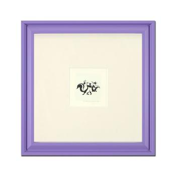 """""""Pepe Le Pew Dancing"""" Framed Limited Edition Etching with Hand-Tinted Color and Numbered."""