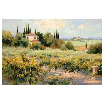 """Marilyn Simandle, """"The Vineyard"""" Limited Edition on Canvas, Numbered and Hand Signed with Letter of Authenticity."""