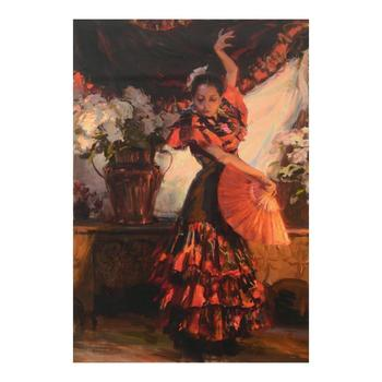 """Dan Gerhartz, """"Viva Flamenco"""" Limited Edition on Canvas, Numbered and Hand Signed with Letter of Authenticity."""