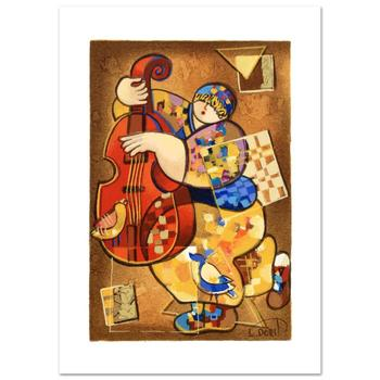 """Dorit Levi, """"Blues I"""" Limited Edition Serigraph, Numbered and Hand Signed with Certificate of Authenticity."""