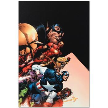 """Marvel Comics """"Avengers #500"""" Numbered Limited Edition Canvas by David Finch; Includes COA."""