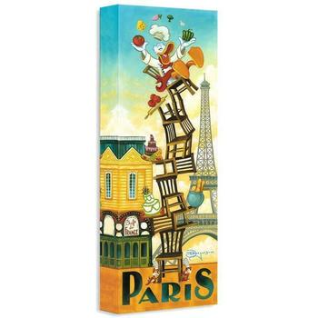 """""""Donald's Paris"""" Limited edition gallery wrapped canvas by Tim Rogerson from the Disney Treasures collection."""