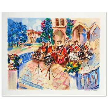 """Michael Rozenvain, """"Orchestral Balcony"""" Limited Edition Serigraph, Numbered and Hand Signed with Certificate."""