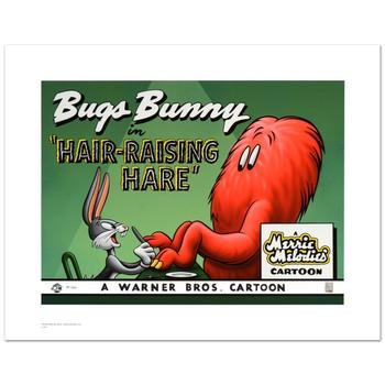"""Warner Bros., """"Hair Raising Hare"""" Ltd Ed Giclee, Hand Numbered with Hologram Seal of Authenticity & Cert."""