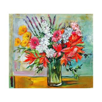 "Lenner Gogli, ""Ornate Bouquet"" Limited Edition on Canvas, Numbered and Hand Signed with Letter of Authenticity."