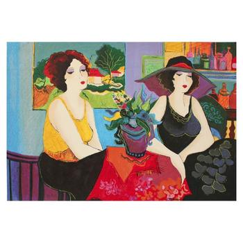 "Patricia Govezensky, ""Esco Bar"" Hand Signed Limited Edition Serigraph on Canvas with Letter of Authenticity."