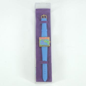 "Vintage Peter Max ""Save Our Oceans"" Watch with Original Packaging and Paperwork."