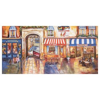 "Alexander Borewko, ""Street Restaurants"" Hand Signed Limited Edition Giclee on Canvas with Letter of Authenticity."