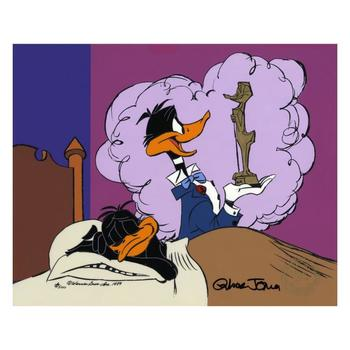 "Chuck Jones ""Daffy Ducks Impossible Dream"" Hand-Signed Hand-painted Limited Edition Sericel."