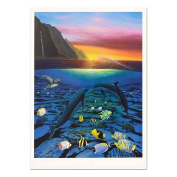 """Wyland, """"Kiss For the Sea"""" Limited Edition Lithograph, Numbered and Hand Signed with Certificate of Authenticity."""