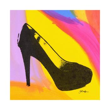 """Gail Rodgers, """"Heels"""" One-of-a-Kind Hand-Pulled Silkscreen Mixed Media on Canvas, Hand Signed with Certificate."""