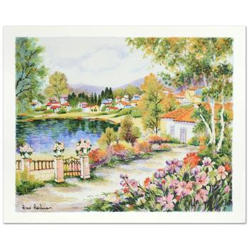 """Zina Roitman, """"Tranquility """" Hand Signed Limited Edition Serigraph with Letter of Authenticity."""