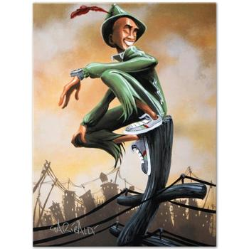 """David Garibaldi, """"Peter Pan"""" LIMITED EDITION Giclee on Canvas (27"""" x 36""""), E Numbered and Signed."""