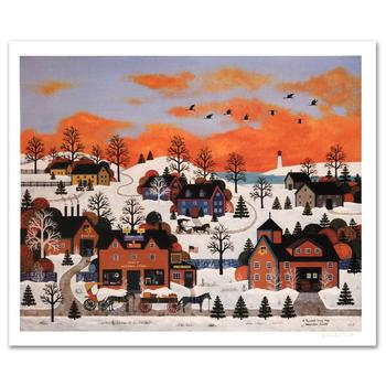 """Jane Wooster Scott, """"A Sunset Long Ago"""" Hand Signed Limited Edition Lithograph with Letter of Authenticity."""