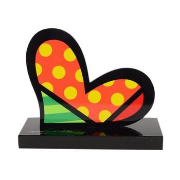 """Romero Britto""""For You II"""" Hand Signed Limited Edition Sculpture; Authenticated."""