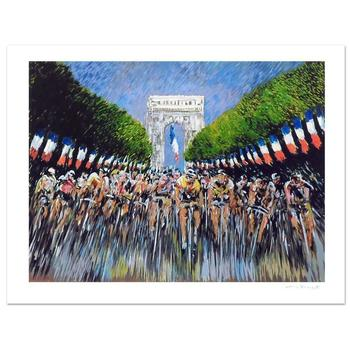 """Guy Buffet, """"The Finish Line"""" Limited Edition Serigraph; Numbered and Hand-Signed with Certificate of Authenticity."""