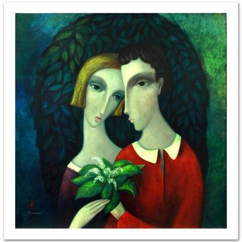"""Sergey Smirnov (1953-2006), """"Homage To Chagall"""" Ltd Ed Mixed Media on Canvas (35"""" x 35""""), Numbered and Hand Signed w/Cert."""
